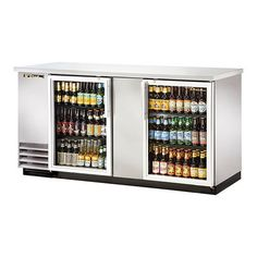 69  Glass Swing Door Stainless Steel Back Bar Cooler with LED Lighting