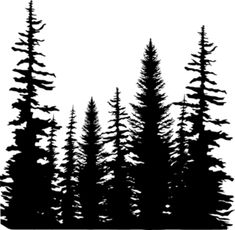 *Impression Obsession Cling Stamp PINE TREES CC101