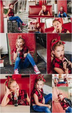 Coca-cola mini sessions-DL Photography Www. Photography Mini Sessions, Toddler Photography, Girl Photography, Photography Ideas, Photography Portraits, Photo Sessions, Shooting Photo Vintage, Mini Session Themes, Coca Cola Mini