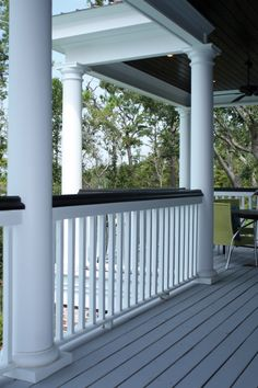 Beautiful columns and railing design with black trim | Plan 024S-0022 | House Plans and More