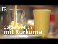 Goldene Milch: Kurkuma würzt und färbt | Unser Land | BR Fernsehen - YouTube Body Lotion, Pint Glass, Healthy Living, Youtube, Tableware, Turmeric Milk, Cinnamon, Honey, Golden Milk