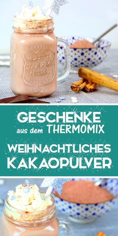 Simply make Christmas cocoa powder yourself with the Thermomix. - Simply make Christmas cocoa powder yourself with the Thermomix. Gifts from the kitchen. Food Crafts, Diy Food, Food Network Recipes, Food Processor Recipes, Fish Recipes, Cake Recipes, Cappuccino Pulver, Thermomix Desserts, Liqueur
