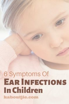 Ear infections can be tricky to diagnose and they can be very painful & uncomfortable for kids - here are symptoms of ear infections in children to look out for.   #EarInfections #Children #EarAche #Kids #Parenting #Health