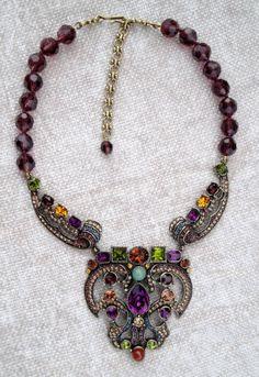 Heidi Daus Multicolor Vintage Beaded Drop by PrincessBunnyVintage, $225.00