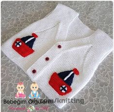 Knitted baby cardigan with poc Crochet Baby Sweater Pattern, Baby Boy Knitting Patterns, Knitting For Kids, Knit Or Crochet, Crochet For Kids, Knitting Stitches, Baby Patterns, Doll Patterns, Knit Patterns