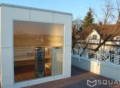 Unique Die edle Sauna f r Ihren Garten oder Ihre Dachterrasse kompakt und dennoch mit h chstem Komfort