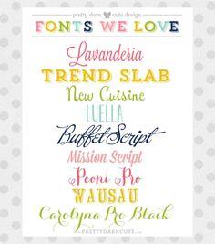 A Few of My Favorite Pretty Fonts by angela
