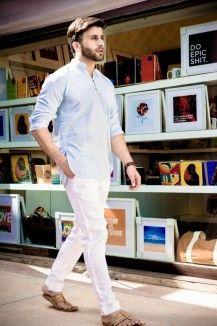 Modest White Linen Trouser  Rs. 4,200