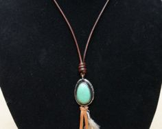 Long tassel necklace by MiltonMonograms on Etsy
