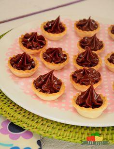 tartaletas de chocolate sin horno