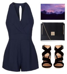 """Night Air"" by theapapa ❤ liked on Polyvore featuring Topshop, Gianvito Rossi and New Look"