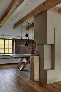 Using an abundance of their signature organic material palette the Slovakian studio Beef Architects had renovated this villa located on the outskirts of Villa, Designer, Conference Room, Interior Decorating, Prague Czech, Beef, Czech Republic, Stylish, Architects