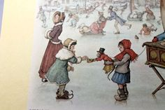 ANTON PIECK - Winter Skaters - PRINT - perfect for framing