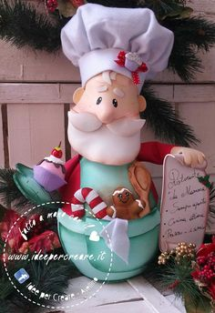 Christmas Pasta, Christmas Crafts, Merry Christmas, Christmas Decorations, Xmas, Christmas Ornaments, Diy And Crafts, Arts And Crafts, Clay Baby