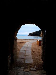 Entrance to the beach Montenegro, Entrance, Beach, Entryway, The Beach, Door Entry, Beaches
