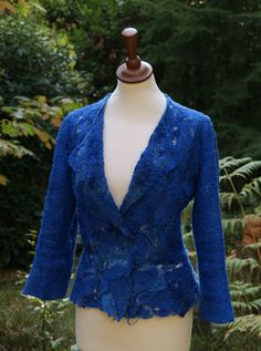 blue jacket by Ellie Marbus Felt and Silk Art, via Flickr