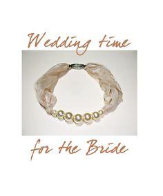 Collier in perle e voile avorio, perfetto per una cerimonia, matrimonio, sposa, regalo per lei di ArtMadeBijoux su Etsy
