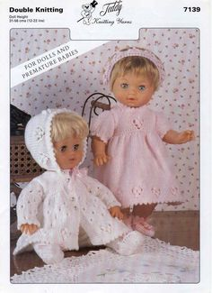 Ideas For Baby Dress Pattern Free Pdf Doll Clothes Barbie Knitting Patterns, Knitting Dolls Clothes, Baby Doll Clothes, Knitted Dolls, Doll Clothes Patterns, Doll Patterns, Baby Dolls, Dress Clothes, Double Knitting