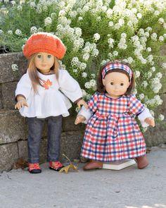 "Doll Knit Layered Sleeve Dress pattern - Mini Urban Girl PDF pattern - 15"" and 18"" doll"