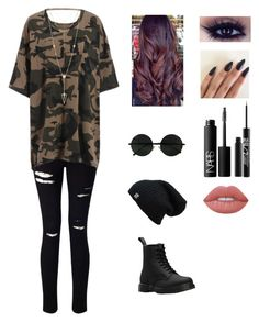 """""""Untitled #4"""" by e-rian5436 on Polyvore featuring Lime Crime, Miss Selfridge, Dr. Martens, House of Harlow 1960, NARS Cosmetics and Urban Decay"""