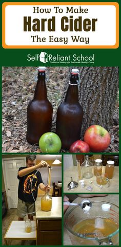 Step by step instructions on how to make hard apple cider at home with just a few simple ingredients and tools. Step by step instructions on how to make hard apple cider at home with just a few simple ingredients and tools. Brewing Recipes, Homebrew Recipes, Beer Recipes, Recipies, Apple Beer Recipe, Hard Cider Recipe, 1 Gallon Cider Recipe, Recipe Ginger, Homemade Alcohol