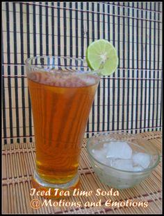Motions and Emotions: Iced Tea Soda / Iced Tea Lime Soda