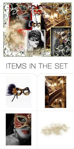 """Masquerade Ball 2"" by sarahguo ❤ liked on Polyvore featuring art"