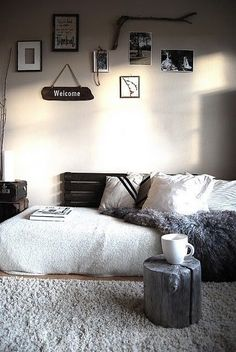 Bedroom mattress on floor Bedrooms Pinterest Mattress