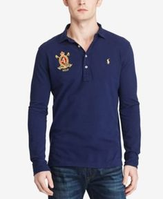 Polo Ralph Lauren Men's Classic-Fit, Featherweight Polo Shirt, Only at Macy's  - Blue XXL