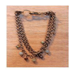 Bracelet 3 rangs amazonite
