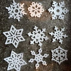 Snowflakes hama beads by  s.aho