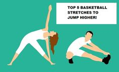 Stretching will help you add vital inches to your vertical jump. Here are Top 5 basketball stretches to jump higher. Incorporate them into your training Benefits Of Stretching, Static Stretching, Dynamic Stretching, Basketball Stretches, Jump Higher, Vertical Jump Training, Warm Down, Bad Posture, Aerobics Workout