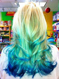 blue tipped dye | blue dip dye – Jill Jensen-Hamachek – luvmint85.