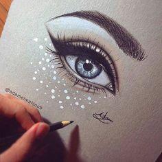 New Eye Sketch Simple Cartoon Ideas Pencil Art Drawings, Art Drawings Sketches, Cute Drawings, Realistic Eye Drawing, Drawing Tutorials For Beginners, Eye Sketch, Anatomy Sketches, Simple Cartoon, Eye Art