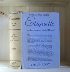 Antique Book Emily Post Etiquette 1939 by CrookedHouseBooks