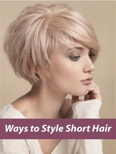 9 Trendy Ways to Style Short Hair | How To Style Short Hair  Looking for trendy ways to style your short hair? We have a selection of 9 ways to style your short hair, so check it out!
