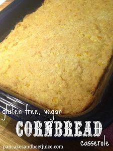 Vegan Cornbread Casserole | FaveGlutenFreeRecipes.com