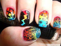 Rainbow nails!  sincerelystephaniee.blogspot.com