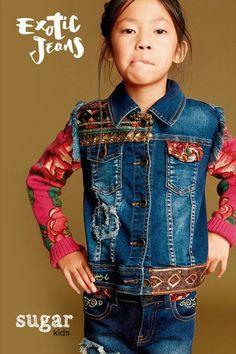 """Sira from Sugar Kids for Desigual """"Mini Territorio Vaquero""""."""