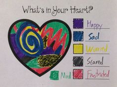 quick Art therapy activities Color Your Feelings: This activity encourages feeling identification, is quick, highly versatile and fits well with the affect regulation component of TF-CBT. Have your client write out a list of. Feelings Activities, Counseling Activities, Art Therapy Activities, Children Activities, Anxiety Activities, Expressing Emotions Activities, Social Work Activities, Grief Activities, Wellness Activities