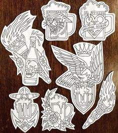 ✸This Old Stomping Ground✸: Photo Traditional Tattoo Old School, Traditional Flash, Traditional Tattoo Flash, American Traditional, Badass Tattoos, Body Art Tattoos, New Tattoos, Sleeve Tattoos, Tattoo Sketches