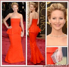 Jennifer Laerence de Dior en los Oscars 2014