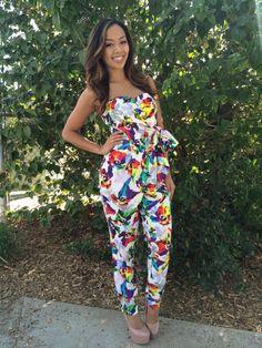 Tropical Jumpsuit - $32.99  #FashionNova #Colorful