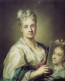 """Self-Portrait"" Rosalba Carriera (1715) Rosalba Carriera (1675 – 1757) was a Venetian Rococo painter. In her younger years, she specialized in portrait miniatures. She later became known for her pastel work, a medium appealing to Rococo styles for its soft edges and flattering surfaces."