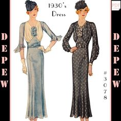 488829831c 1930 s Dress in 4 Versions  3078 (1933)