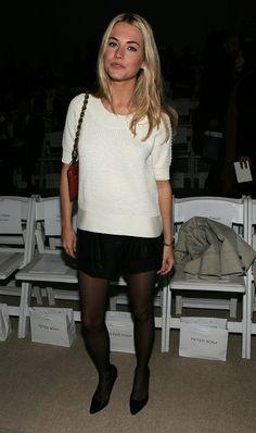 Amanda Hearst leather shorts