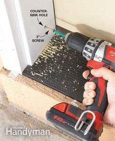 A seasoned pro shows you how to replace a front door, step-by-step, including measuring and ordering a new door, removing the old one and ensuring that the Exterior Doors, Entry Doors, Covered Front Porches, Decorating Blogs, Home Improvement, Projects To Try, Diy, Home Decor, House