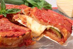 sformato di pancarrè con parmigiana di zucchine