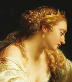 Cleopatra and Markus Antonius - Pompeo Batoni. Detail.