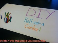 Classroom DIY: DIY Roll-Out-A Center! Be sure to read ideas - not just for little ones. Teaching Tools, Teaching Kids, Teaching Resources, Reading Centers, Literacy Centers, Literacy Games, Classroom Organization, Classroom Decor, Classroom Management